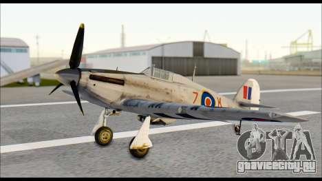 Hawker Hurricane MK IA для GTA San Andreas вид справа