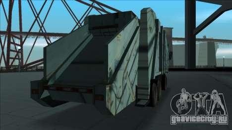 TDK Volvo Xpeditor Garbage Crash Version для GTA San Andreas вид справа