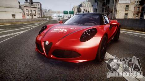 Alfa Romeo 4C 2014 WTCC Safety Car для GTA 4