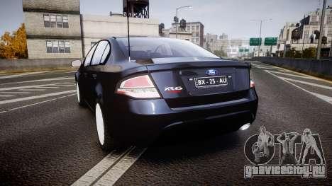 Ford Falcon FG XR6 Unmarked Police [ELS] v2.0 для GTA 4 вид сзади слева