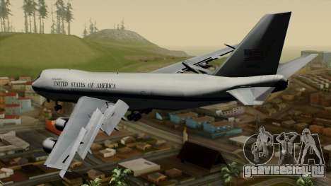 Boeing 747 E-4B для GTA San Andreas вид слева