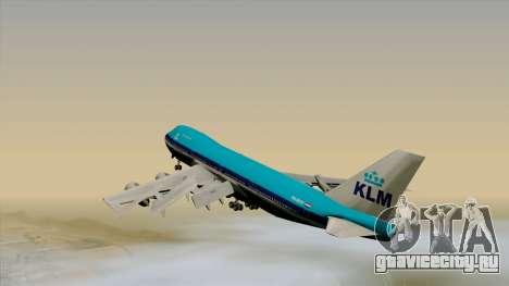 Boeing 747-200B KLM для GTA San Andreas вид слева