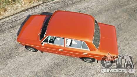 ВАЗ-2106 для GTA 5 вид сзади