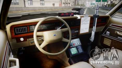 Ford LTD Crown Victoria 1987 LAPD [ELS] для GTA 4 вид сзади