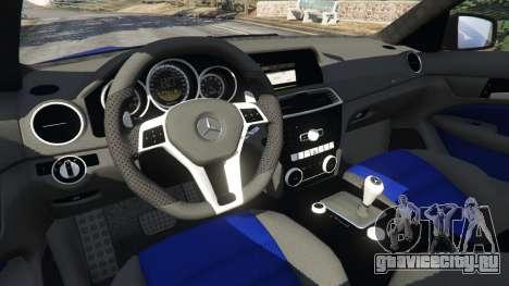 Mercedes-Benz C63 AMG 2012 LCPD для GTA 5 вид справа