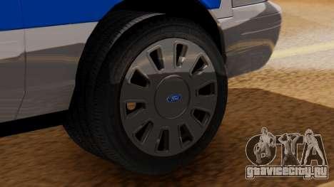 Police Ranger 2013 для GTA San Andreas вид сзади слева