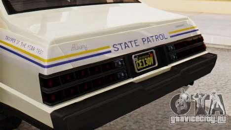 GTA 5 Albany Esperanto Police Roadcruiser IVF для GTA San Andreas вид сзади