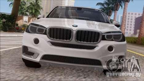 BMW X5 F15 BUFG Edition для GTA San Andreas вид сзади