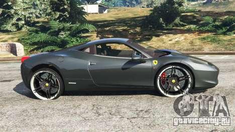 Ferrari 458 Italia v1.0.4 для GTA 5 вид слева