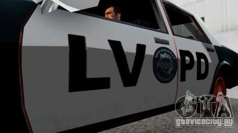 Police LV with Lightbars для GTA San Andreas вид справа