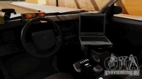 Police Ranger 2013 для GTA San Andreas вид справа