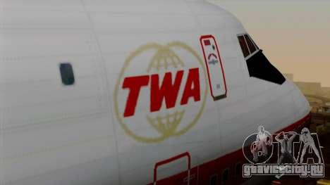 Boeing 747 TWA для GTA San Andreas вид сзади