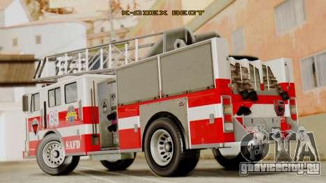SAFD Fire Lader Truck Flat Shadow для GTA San Andreas вид слева
