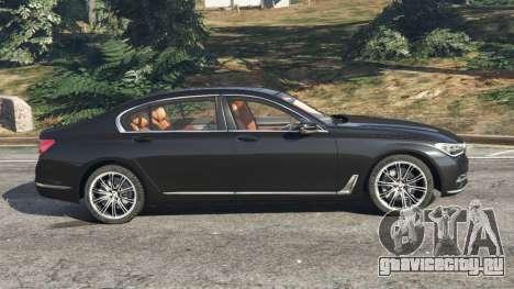 BMW 750Li 2016 для GTA 5 вид слева