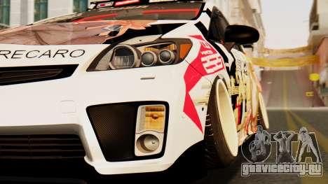 Toyota Prius JDM 2011 Itasha для GTA San Andreas вид сзади