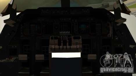 Boeing 747 Delta для GTA San Andreas вид сзади