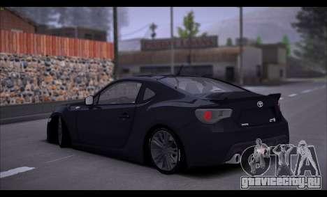 Toyota GT86 2012 BUFG Edition для GTA San Andreas вид справа