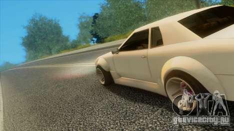 Elegy Rocket Bunny Edition для GTA San Andreas вид снизу