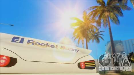 Elegy Rocket Bunny Edition для GTA San Andreas вид изнутри