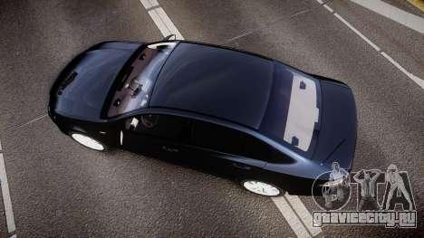Ford Falcon FG XR6 Unmarked Police [ELS] v2.0 для GTA 4 вид справа