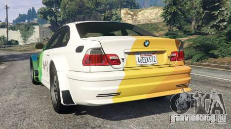 BMW M3 GTR E46 PJ1 для GTA 5 вид сзади слева