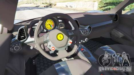 Ferrari 458 Italia v1.0.4 для GTA 5 вид сзади справа