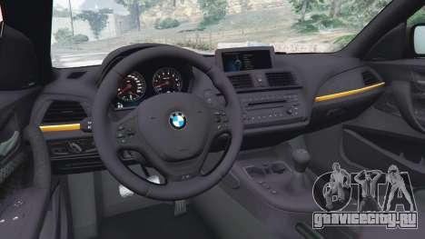 BMW M135i (F21) 2013 для GTA 5 вид сзади справа