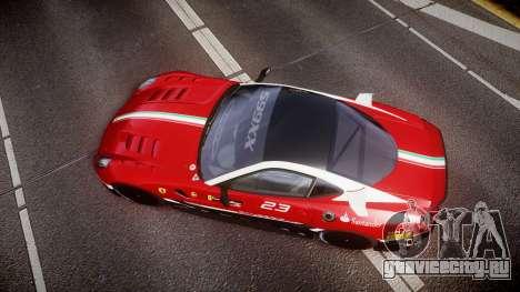Ferrari 599XX 2010 Scuderia Ferrari для GTA 4 вид справа