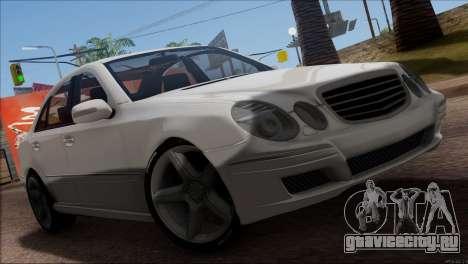 Mercedes-Benz E55 W211 AMG для GTA San Andreas вид сбоку