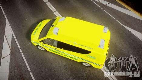 Volkswagen Transporter Norwegian Ambulance [ELS] для GTA 4 вид справа