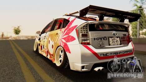 Toyota Prius JDM 2011 Itasha для GTA San Andreas вид слева