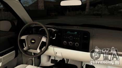 Chevrolet Silverado 1500 LT 2010 для GTA San Andreas вид сзади