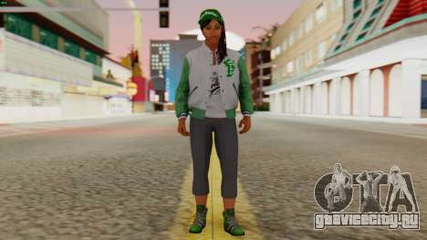 [GTA5] Fam Girl для GTA San Andreas второй скриншот