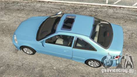 Honda Civic Si 1999 v1.1 для GTA 5 вид сзади