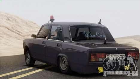 VAZ 2107 Avtosh Style для GTA San Andreas вид справа