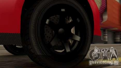 GTA 5 Annis Elegy RH8 IVF для GTA San Andreas вид сзади слева