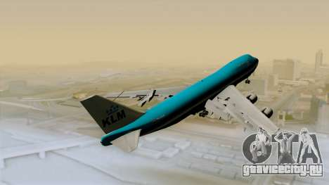 Boeing 747-200B KLM для GTA San Andreas вид сзади слева