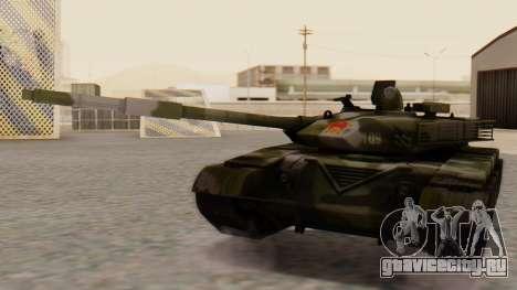 Type 99 для GTA San Andreas вид сзади слева