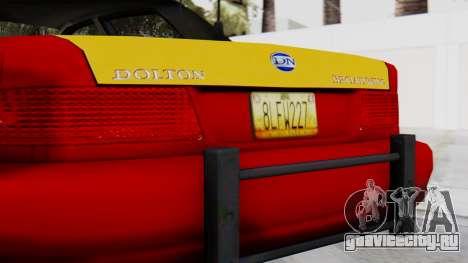 Dolton Broadwing Taxi для GTA San Andreas вид сзади