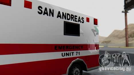 Ambulance with Lightbars для GTA San Andreas вид сзади