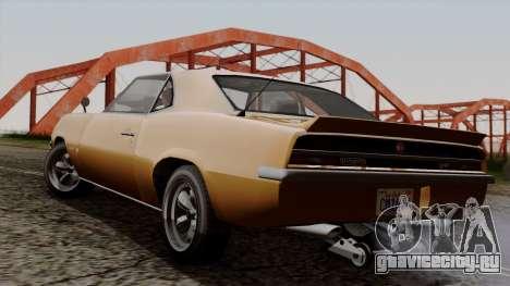 GTA 5 Declasse Vigero для GTA San Andreas вид слева