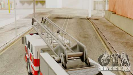 SAFD Fire Lader Truck Flat Shadow для GTA San Andreas вид справа