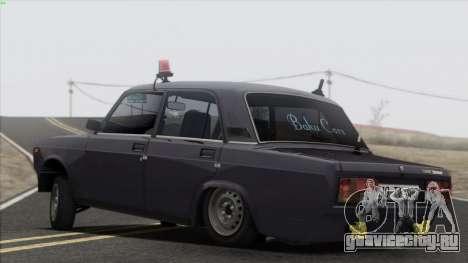 VAZ 2107 Avtosh Style для GTA San Andreas салон