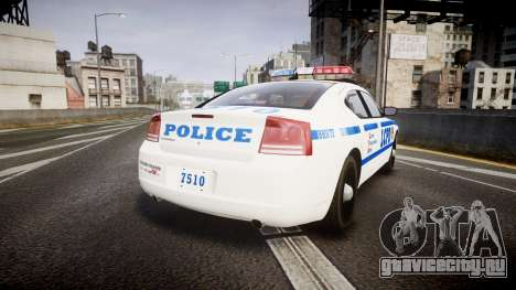 Dodge Charger LCPD для GTA 4 вид сзади слева