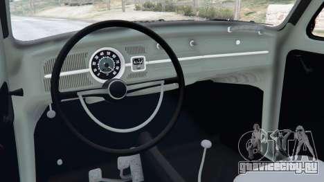 Volkswagen Beetle для GTA 5 вид справа
