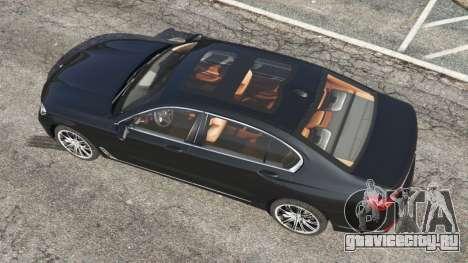 BMW 750Li 2016 для GTA 5 вид сзади