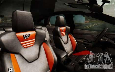 Ford Focus ST 2012 для GTA San Andreas вид сзади