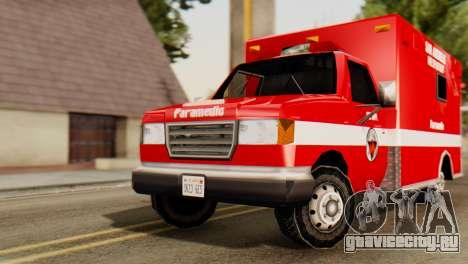 SAFD Ambulance для GTA San Andreas вид справа