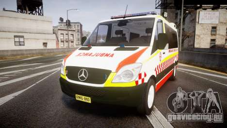 Mercedes-Benz Sprinter NSW Ambulance [ELS] для GTA 4