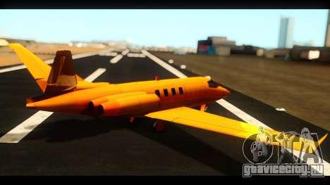 Shamal Deluxe для GTA San Andreas вид слева